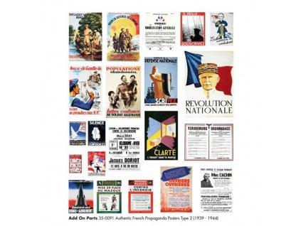 Americké francúzske propagandistické plagáty 1:35