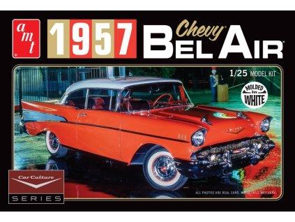 1957 Chevy Bel Air - Biele prevedenie 1:25