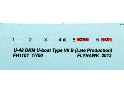 U-48 Type VII B + Dock Scene 1:700