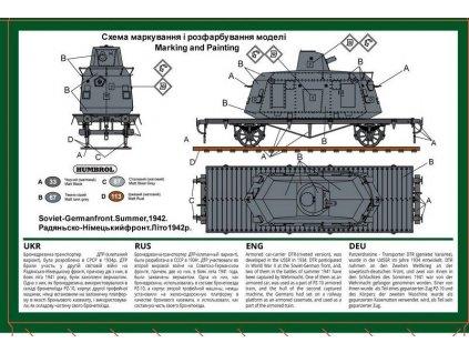 Armored car DTR-Casemate on a railway platform 1:72