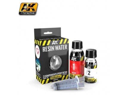 Resin Water 2-components Epoxy Resin - 180ml (Enamel)