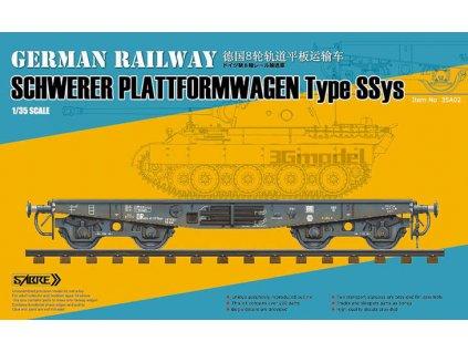 Nemecký železničný vagón typ Ssys 1:35