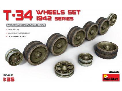 Kolesá pre T-34 Set.1942 1:35