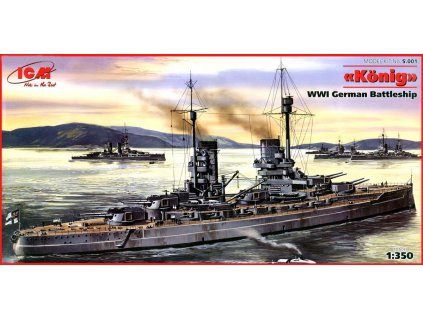 König WWI german Battelship 1:350