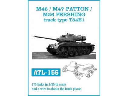 Funkčné kovové pásy pre M46 / M47 / M26 type T84E1 1:35