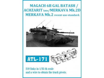 Funkčné kovové pásy pre Gal Batash / Achzarit late / Merkava Mk.3D 1:35