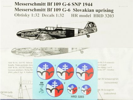 Decals Bf 109G-6 (SNP) 1:32