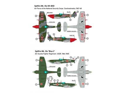 Obtlačky pre Spitfire Niners Of The World 1:72