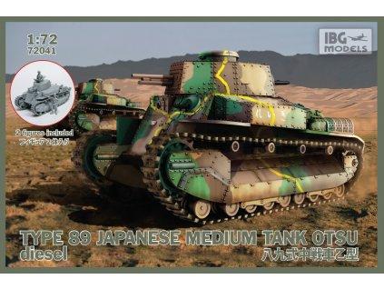 Type 89 Japanese Medium Tank OTSU 1:72