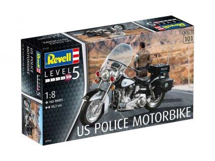 US Police Motorbike 1:8