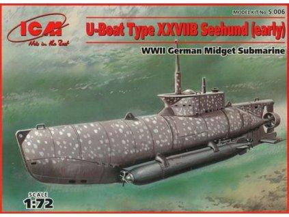 U-Boot Type XXVII Seehund early 1:72
