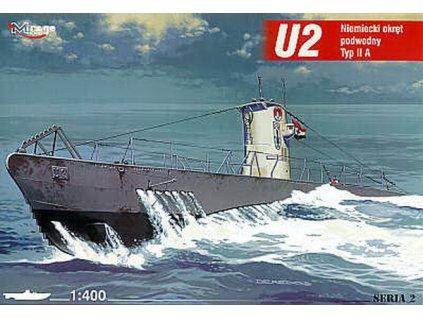 Deutsches U-Boot U 2 Typ IIA 1:400