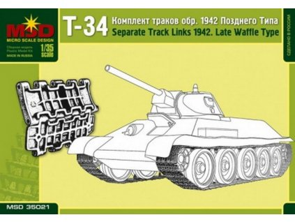 Set Of Separate Track Links For T-34 Russian Tank, Model Late 1942, Waffle Type 1:35
