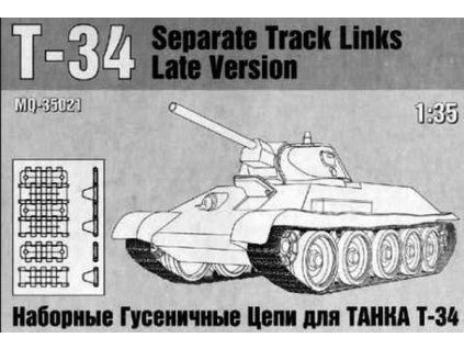 T-34 Separate Track Links Late Version 1:35