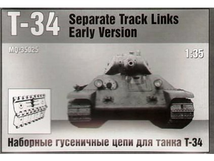 T-34/40 Separate Track Links Early Version 1:35