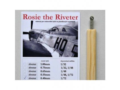 Rosie the Riveter 0.60mm DOUBLE (for 1/72, 1/48)