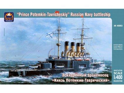 Prince Potemkin-Tavricheskiy Russian Navy battleship 1:400