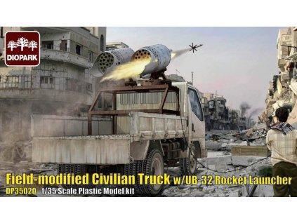 Filed-Modified Civilian Truck w/UB-32 Rocket Launcher 1:35