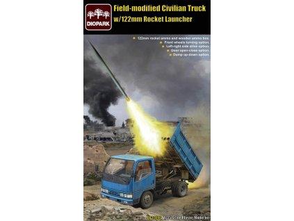 Filed-Modified Civilian Truck w/122mm Rocket Launcher 1:35