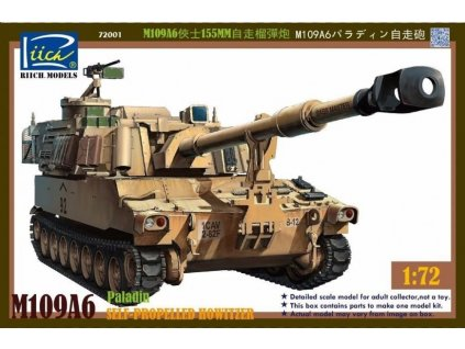 M109A6 Paladin Self-Propelled Howitzer 1:72