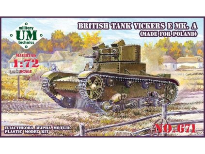 Vickers E Mk.A.-Poland (resin tracks) 1:72
