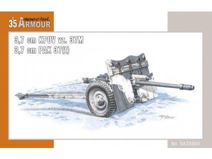 Kanón 3,7 cm KPUV vz.37M / 3,7 cm Pak M 37 (t) 1:35