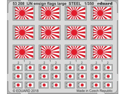 Vlajky IJN - veľké STEEL 1:350