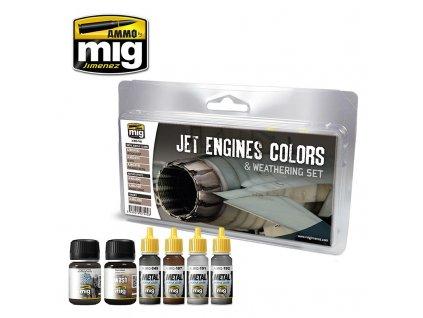 Farby a patina pre motory stíhačiek