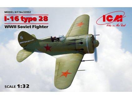 I-16 type 28, WWII Soviet Fighter 1:32