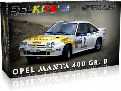 """Opel Manta 400 GR.B Tour de corse 1984 Frequelin -""""Tilber"""" 1:24"""