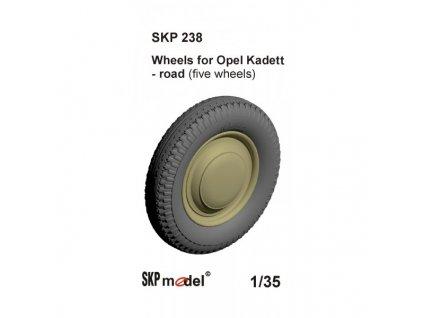 Kolesá pre Opel Kadet cestný vzor (ICM) 1:35