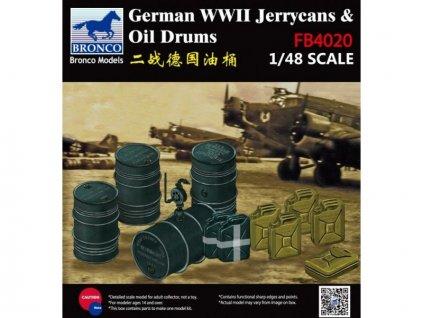 Nemecké bandasky a barely na palivo z 2.sv. vojny 1:48