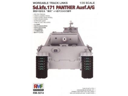 Funkčné pásy pre Panther A or G 1:35