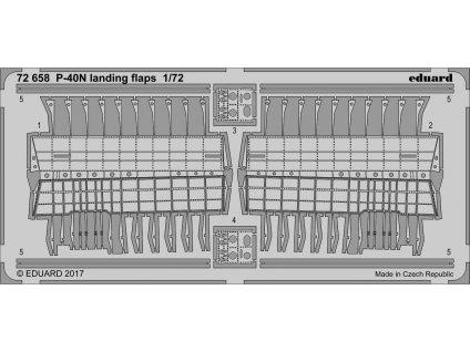 Vztlakové klapky pre P-40N (Special hobby) 1:72