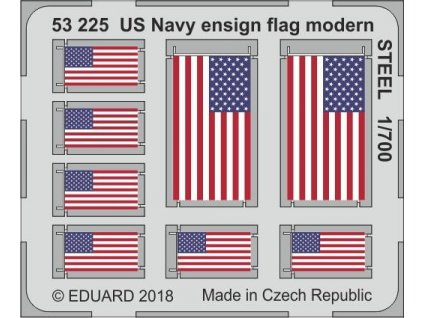 Národné vlajky US Navy . súčasné STEEL 1:700