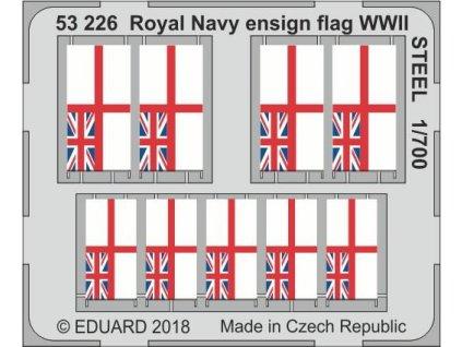Národné vlajky Royal Navy 2. sv. v. STEEL 1:700