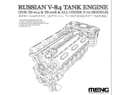 Russian V-84 Engine (For Ts-028 & All Other T-72 Models) 1:35