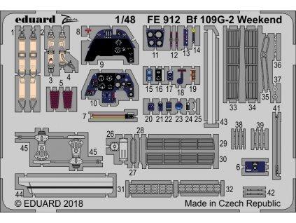 Detaily pre Bf 109G-2 Weekend (Eduard) 1:48