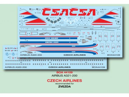 Airbus A321-200 Czech Airlines 1:144