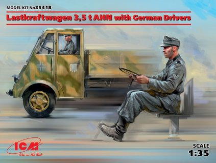 Lastkraftwagen 3,5t AHN w. German Drivers 1:35