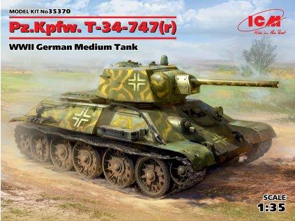 Pz.Kpfw. T-34-747(r) WWII German Medium Tank 1:35