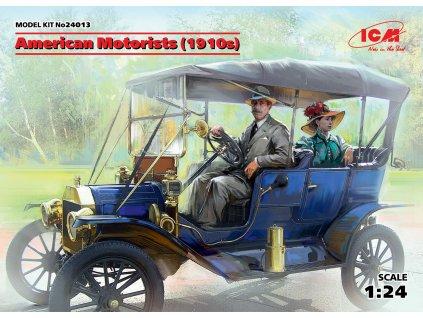 American Motorists 1910s (1male,1female) 1:24