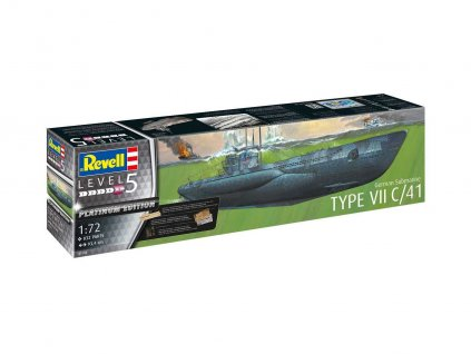 Plastic ModelKit ponorka Limited Edition 05163 German Submarine Type VII C 41 Platinum Edition 1 72 a99289236 10374