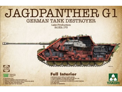 Jagdpanther G1 Late - full Interior 1:35