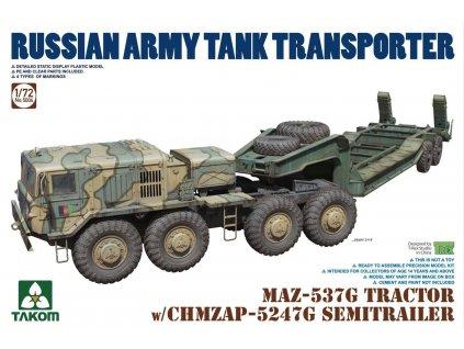 MAZ-537G TRACTOR w/CHMZAP-5247G trailer 1:72