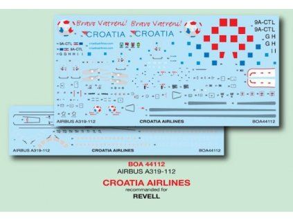 A319 Croatia Airlines 2018 FIFA World Cup 1:144