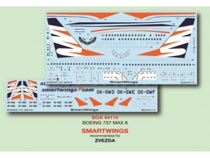 Boeing 737 MAX 8 SmartWings (Zvezda) 1:144