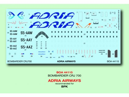 Bombard. CRJ-700 Adria Airways (BPK) 1:144