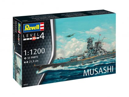 Plastic ModelKit lod 06822 Musashi 1 1200 a99290395 10374