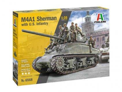 Model Kit tank 6568 M4A1 Sherman with U S Infantry 1 35 a100677747 10374